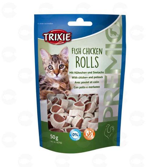 Picture of «PREMIO Fish Chicken Rolls» կատուների համար