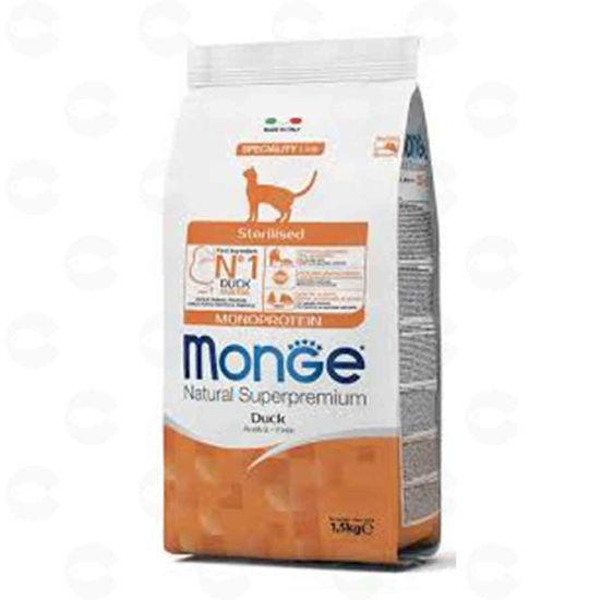 Picture of Կեր կատուների համար Monge STERILISED բադ 1.5 կգ