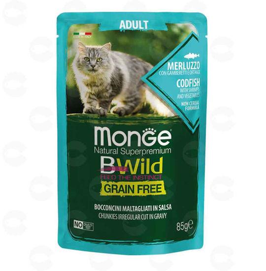 Picture of Պաուչ կատուների համար Monge Bwild adult ձկան (մեռլուզո)