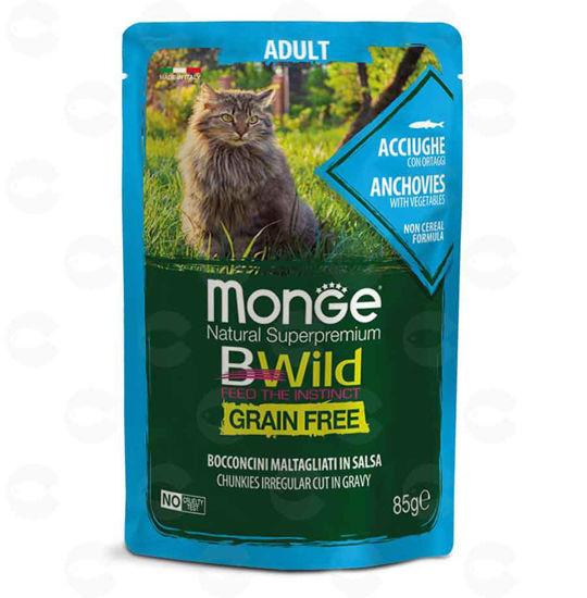 Picture of Պաուչ կատուների համար Monge Bwild adult ձկան (անչոուս)
