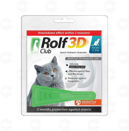 Picture of Rolf Club կաթիլներ տզերի և լվերի դեմ կատուների համար (4-8 կգ)