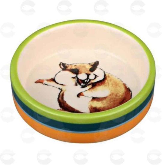 Picture of Կերամիկական կերաման կրծողների համար` նկարազարդ, կրեմագույն